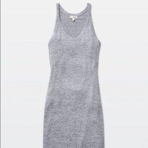 Aritzia cutout jersey dress light & dark grey sz S